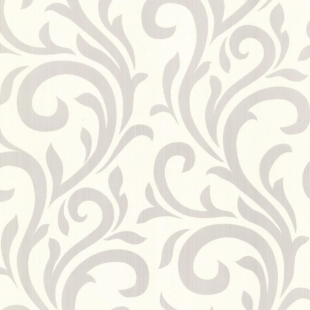 Muriel Sage Scroll Wallpaper