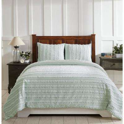 Anglique Teal Twin Comforter