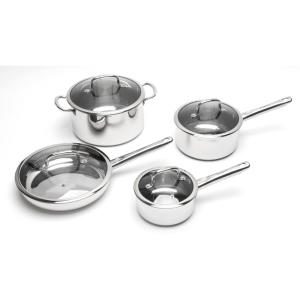 BergHOFF EarthChef 8-Piece Stainless Steel Cookware Set with Lids by BergHOFF
