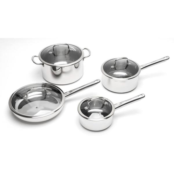 BergHOFF EarthChef 8-Piece Stainless Steel Cookware Set with Lids 2211097