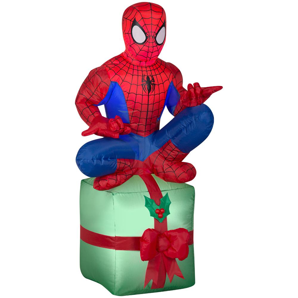 42 in. Inflatable Airblown-Spider-Man On Present