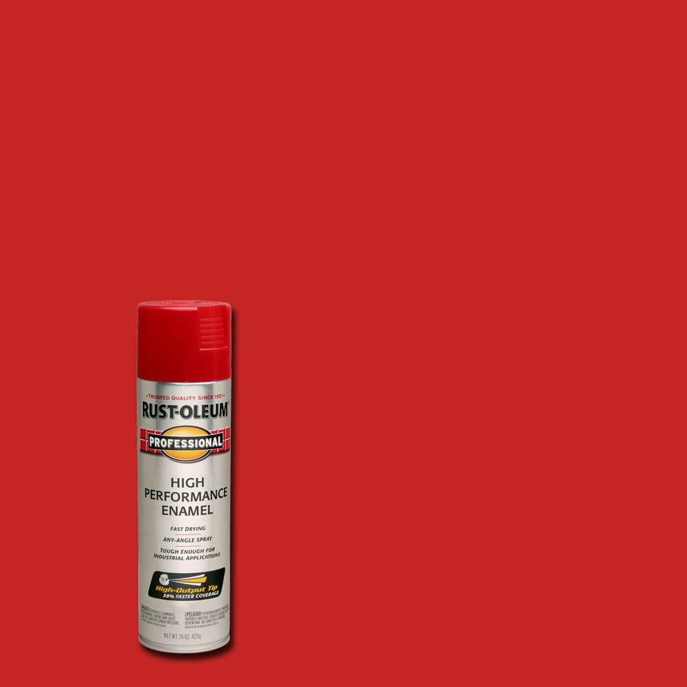 Rust-Oleum Professional 15 oz  High Performance Enamel Gloss Safety Red  Spray Paint