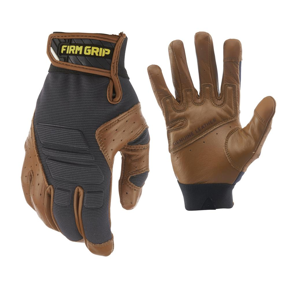 FirmGrip Firm Grip Gel Pro Hybrid Large Glove (1-Pair), Adult Unisex, Brown