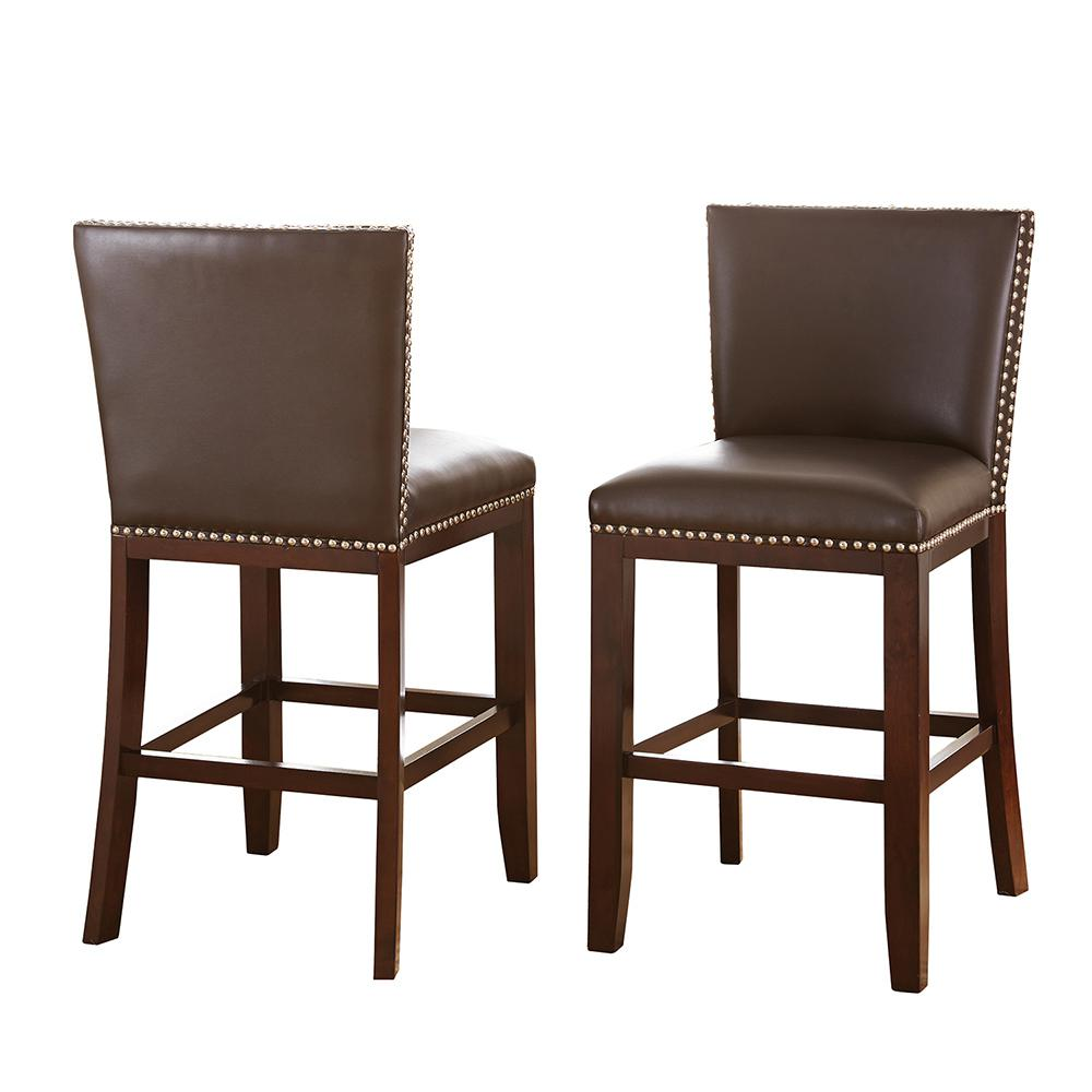 Steve Silver Tiffany Counter Height Brown Chairs (Set Of 2