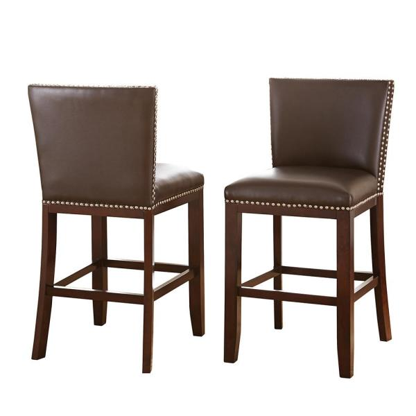 Steve Silver Tiffany Counter Height Brown Chairs Set Of 2