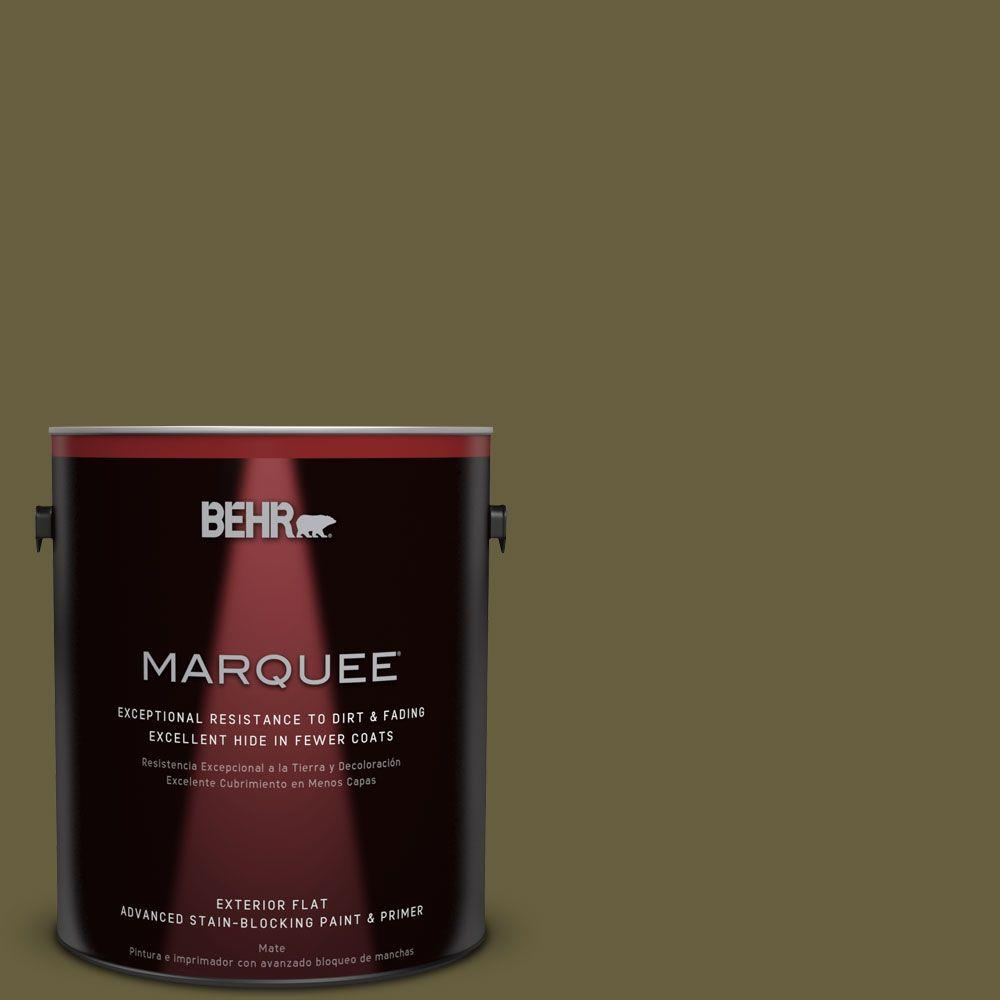1-gal. #ICC-88 Classic Olive Flat Exterior Paint