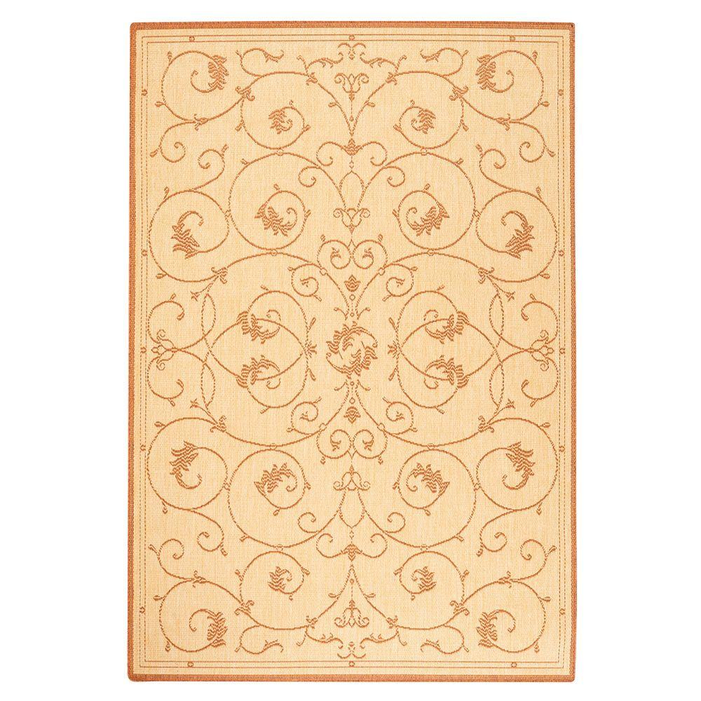 Home Decorators Collection Tendril Natural/Terracotta 8 ft. 6 in. x 13 ft. Area Rug