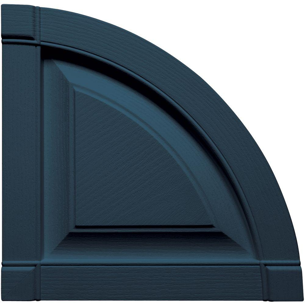 15 in. x 15 in. Raised Panel Design Classic Blue Quarter