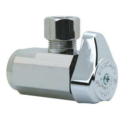 3/8 in. FIP Inlet x 3/8 in. O.D. Compression Outlet 1/4-Turn Angle Valve