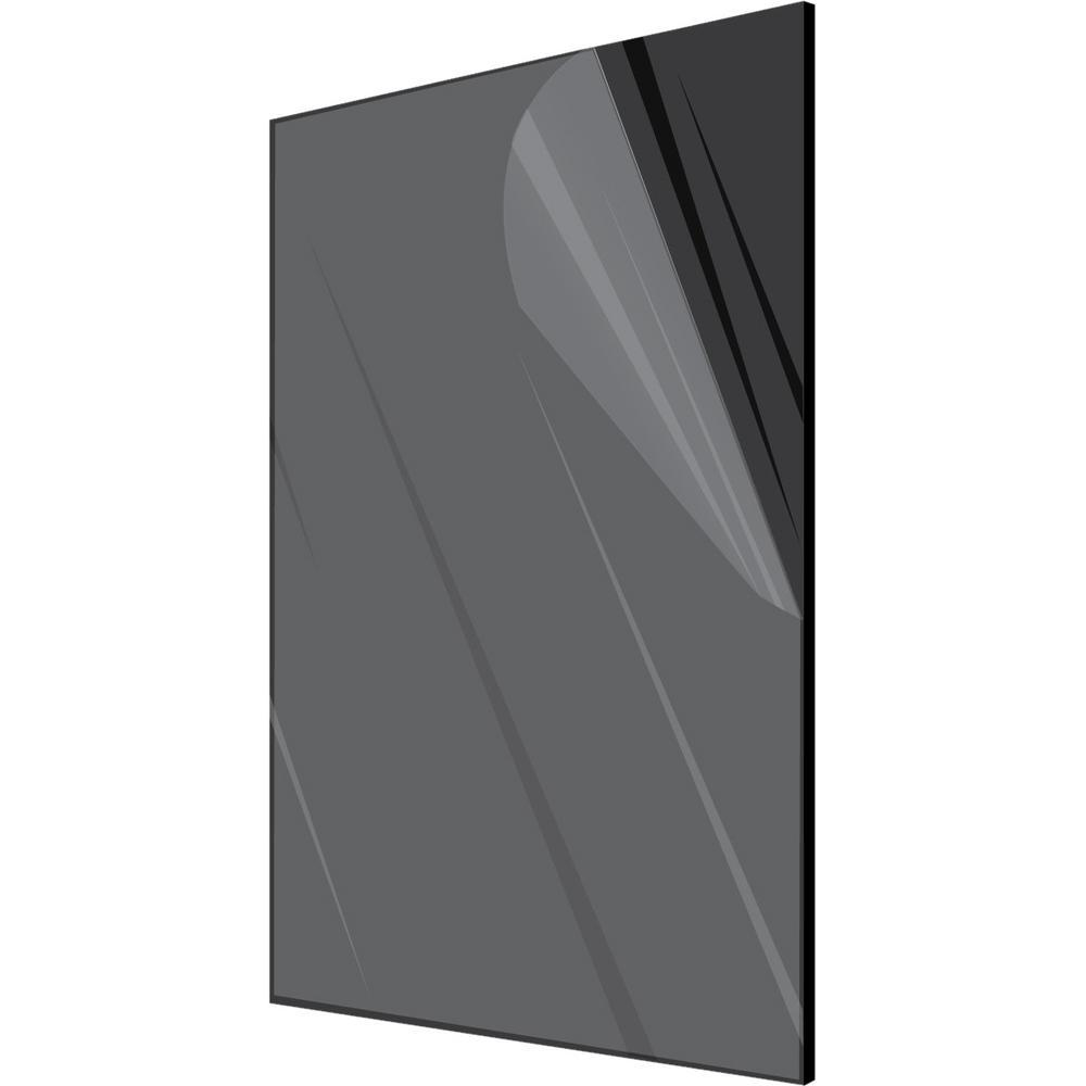 12 in. x 24 in. x 1/8 in. Black Plexiglass Acrylic Sheet ...