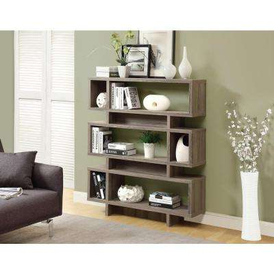 Dark Taupe Open Bookcase