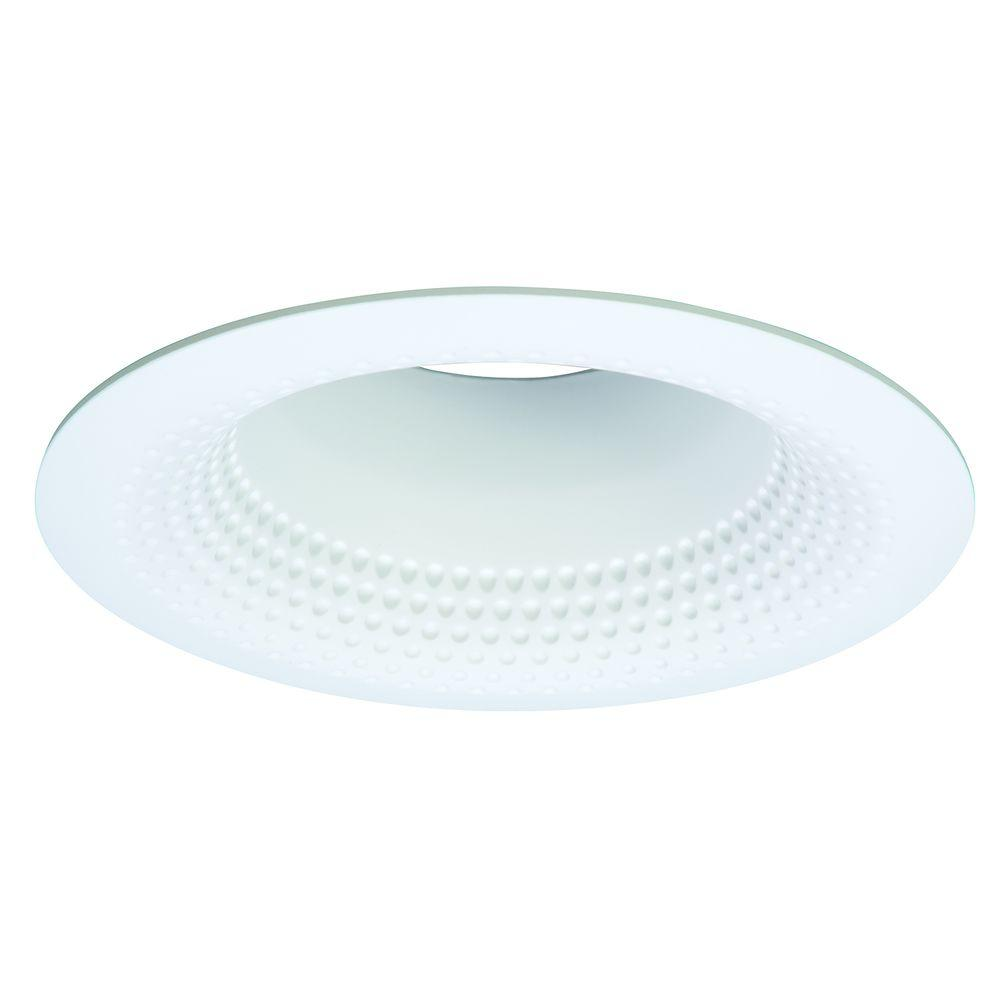 E26 Series 5 in. White Recessed Ceiling Light Perftex Baffle with