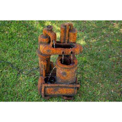 32 in. Tall Rustic Pipes Fountain