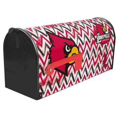 Red/Black/White Post Mount University of Louisville Mailbox