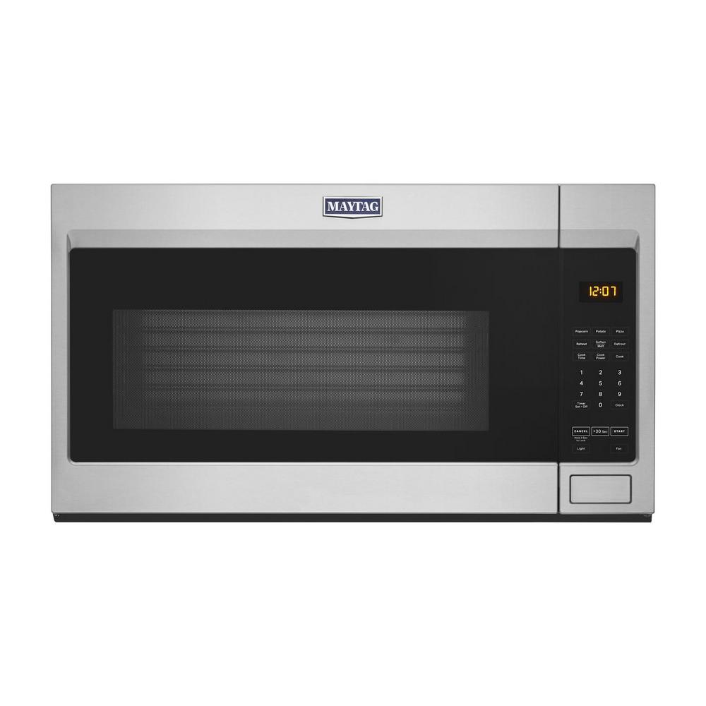 Maytag Maytag 1.9 cu. ft. Over the Range Microwave with Stainless Steel Cavity in Fingerprint Resistant Stainless Steel