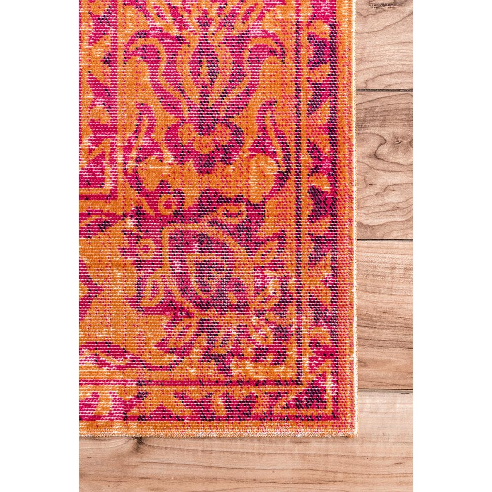 nuLOOM - Fiona Oriental Persian Orange 5 ft. x 8 ft.  Area Rug