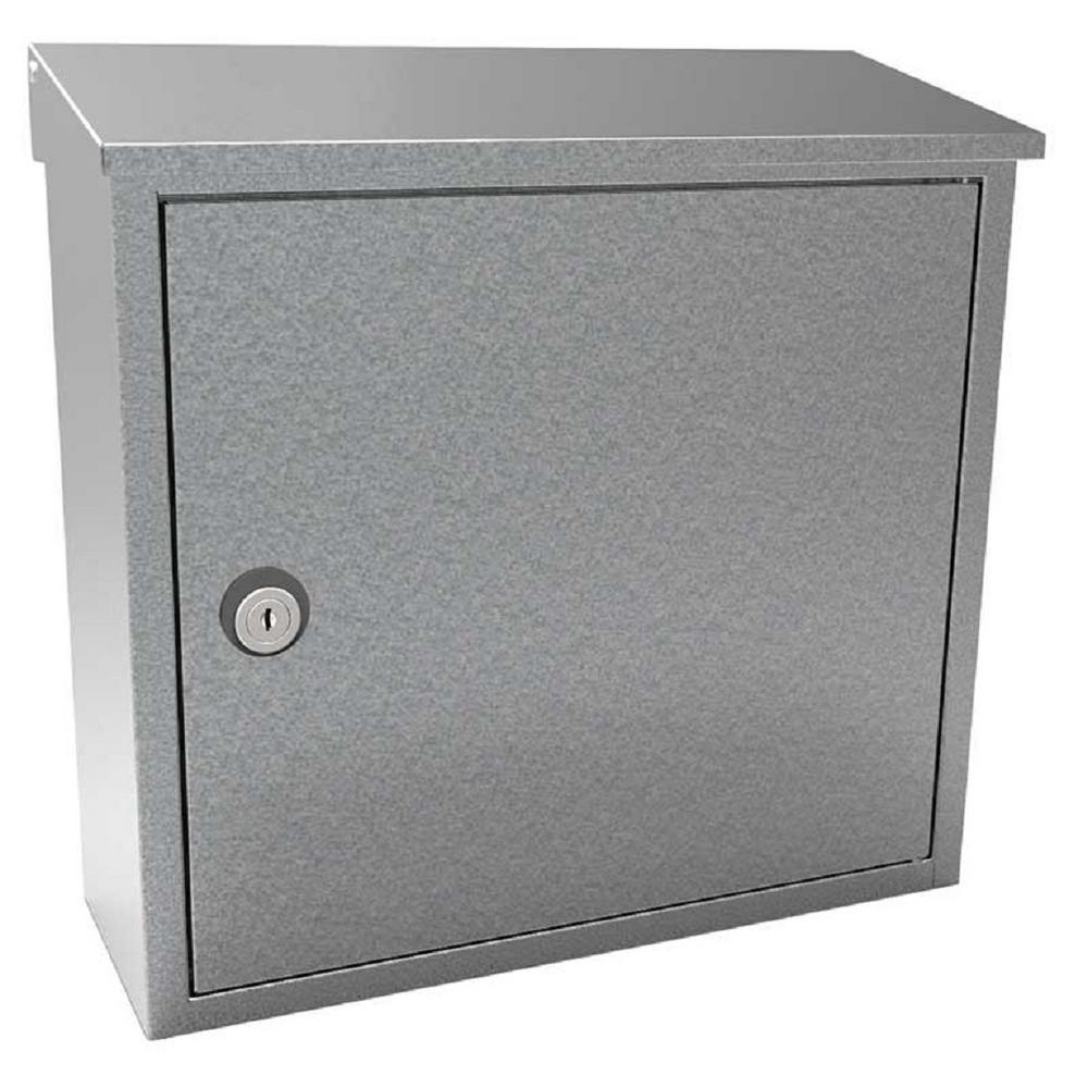 Allux 400 Galvanized Wall Mount Locking Mailbox