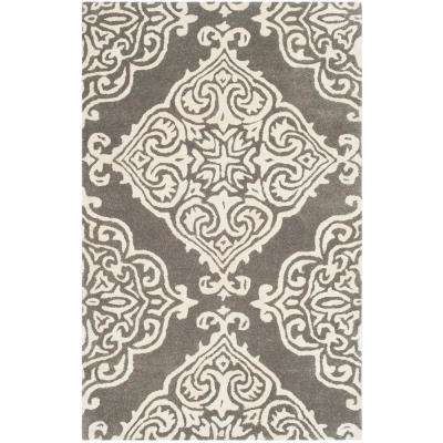 Glamour Dark Gray/Ivory 2 ft. x 3 ft. Area Rug