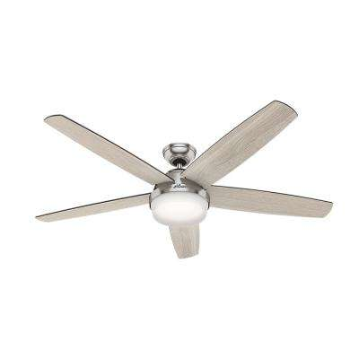 Salido 60 in. LED Indoor Brushed Nickel Ceiling Fan