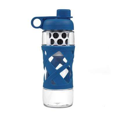 22 oz. Water Bottle with Built in Filter System in Navy