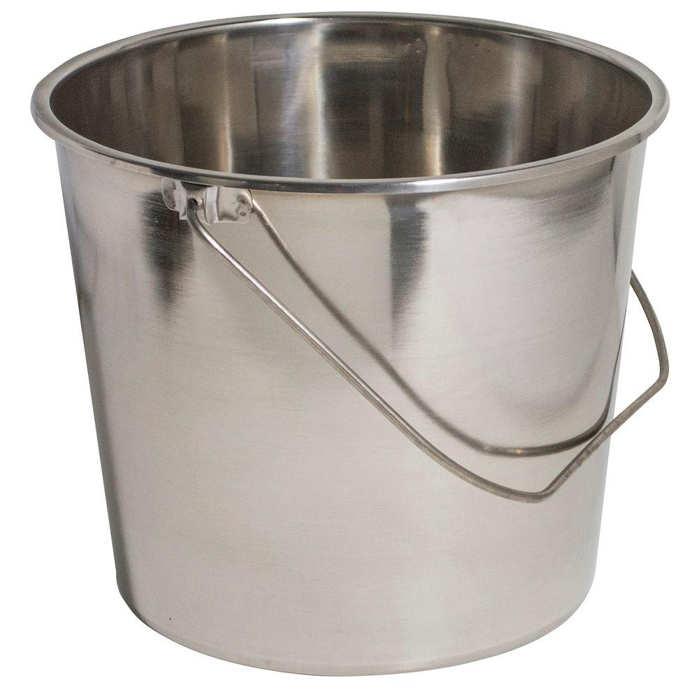 Uncategorized Large Buckets amerihome extra large stainless steel bucket set 3 pack 801682 the home depot