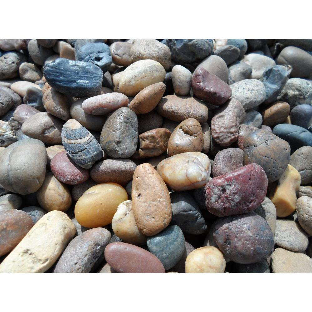 River Rock 1 5 Landscape Rocks Hardscapes The Home Depot