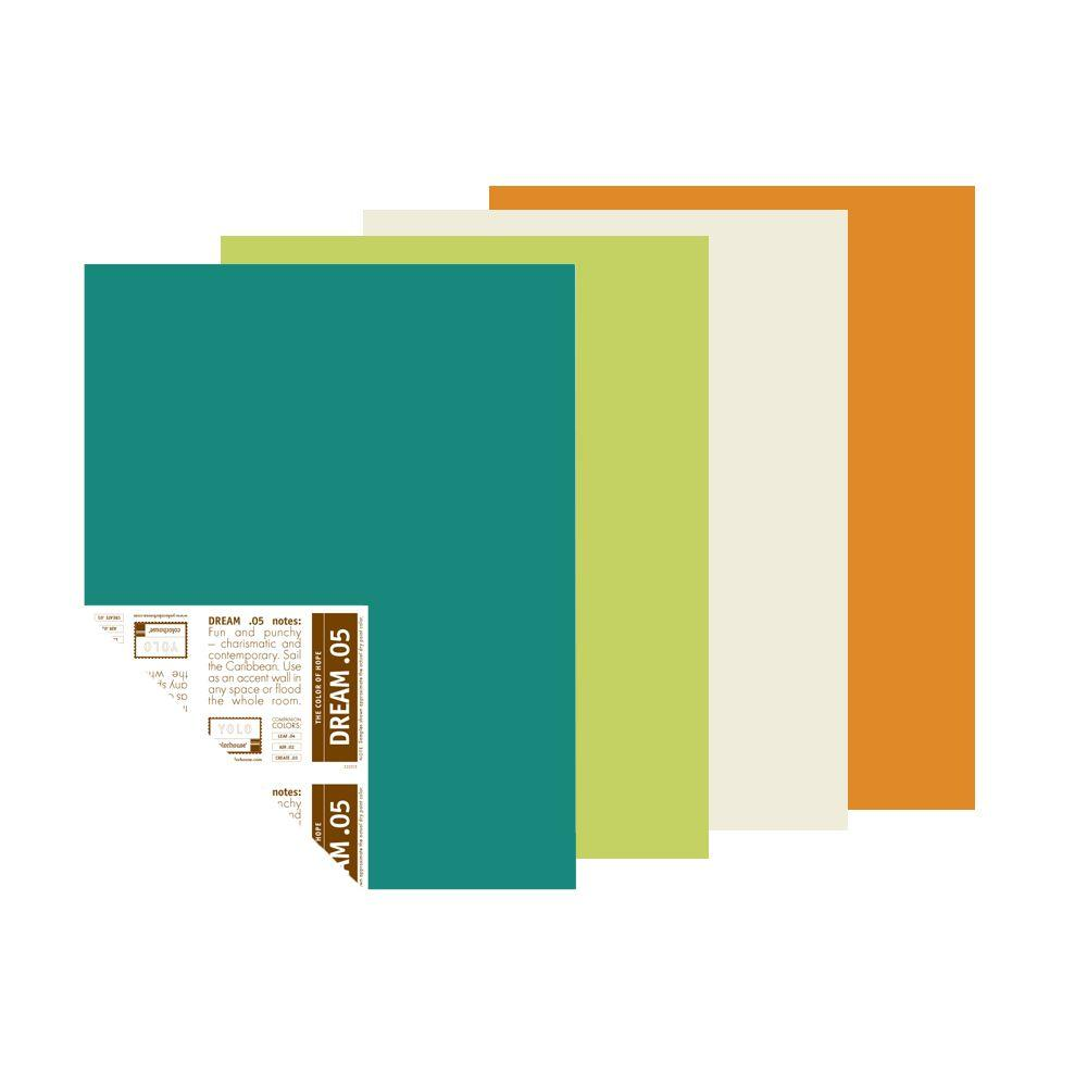 YOLO Colorhouse 12 in. x 16 in. Full Bloom Trend Palette Pre-Painted Big Chip Sample (4-Pack)-DISCONTINUED