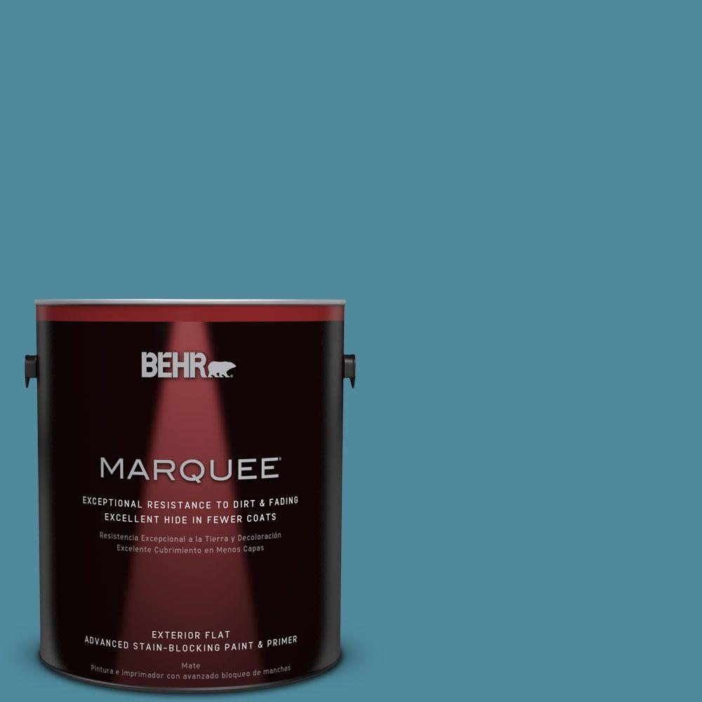 1-gal. #S460-5 Blue Square Flat Exterior Paint