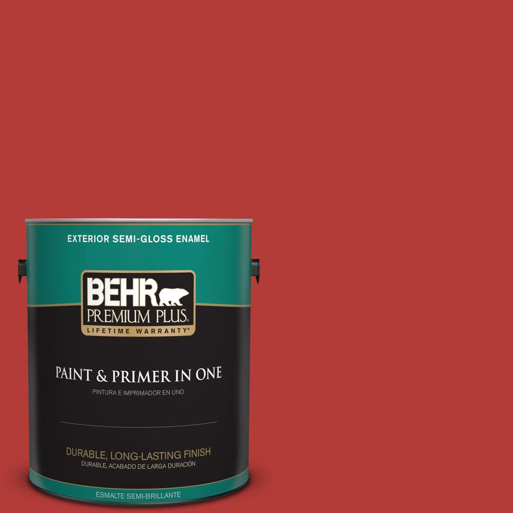 1-gal. #170B-7 Red Tomato Semi-Gloss Enamel Exterior Paint
