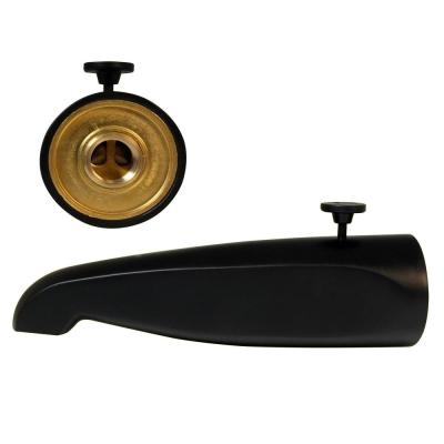 8-1/2 in. Brass Rear Diverter Tub Spout, Matte Black
