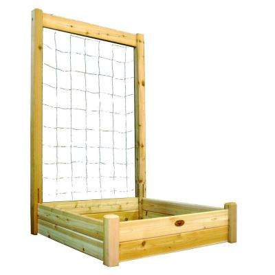 48 in. x 48 in. x 13 in. Raised Garden Bed with 48 in. W x 80 in. H Trellis Kit