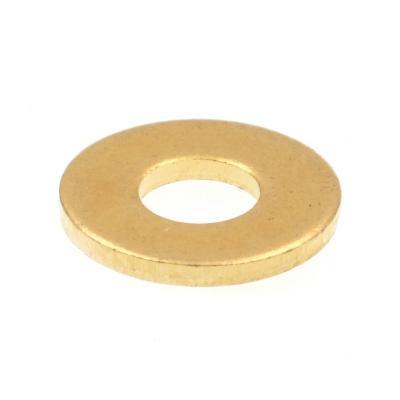 #6 x 5/16 in. O.D. SAE Solid Brass Flat Washers (50-Pack)
