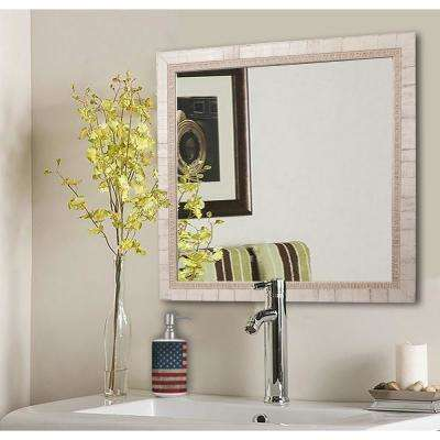31.5 in. x 31.5 in. Tuscan Ivory Square Vanity Wall Mirror