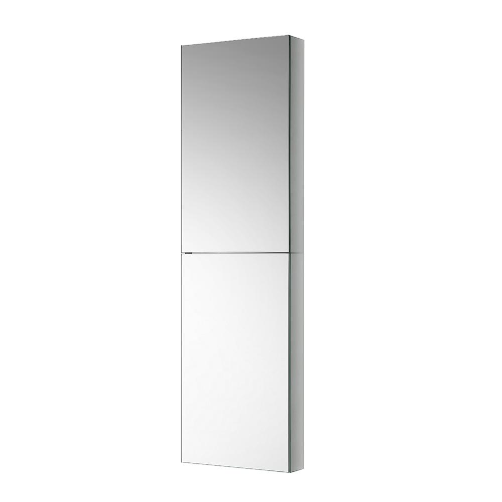 Fresca 15 in. W x 52 in. H x 5 in. D Frameless Recessed or Surface-Mounted Bathroom Medicine Cabinet