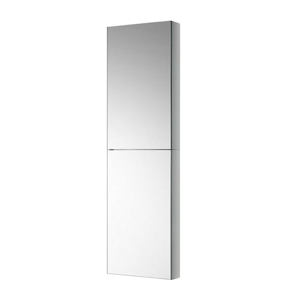 15 in. W x 52 in. H x 5 in. D Frameless Recessed or Surface-Mounted Bathroom Medicine Cabinet