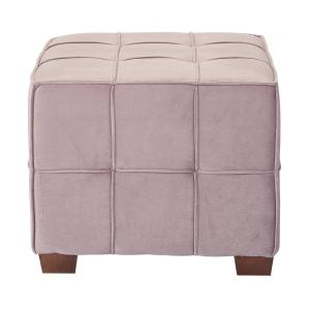 Awe Inspiring Sheldon Mauve Fabric With Coffee Wooden Legs Tufted Ottoman Lamtechconsult Wood Chair Design Ideas Lamtechconsultcom
