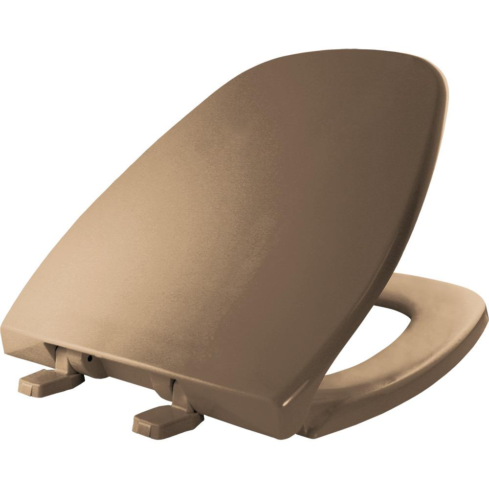 Elongated Closed Front Toilet Seat in Sand