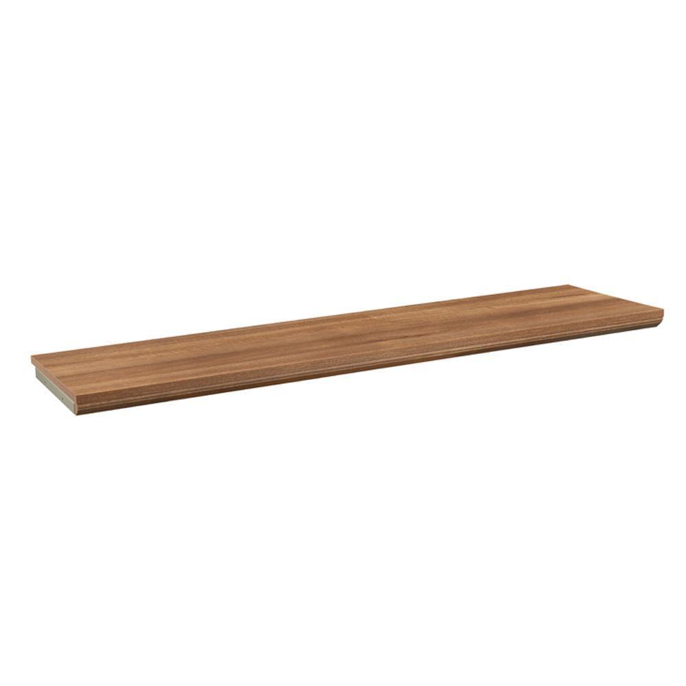 9f457ba89a6 ClosetMaid Impressions 48 in. W Walnut Top Shelf Kit-30802 - The ...