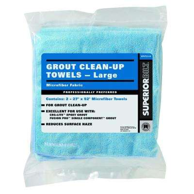 SuperiorBilt 27 in. x 52 in. Microfiber Grout Clean-Up and Sealer Towels (2 Pieces / Bag)