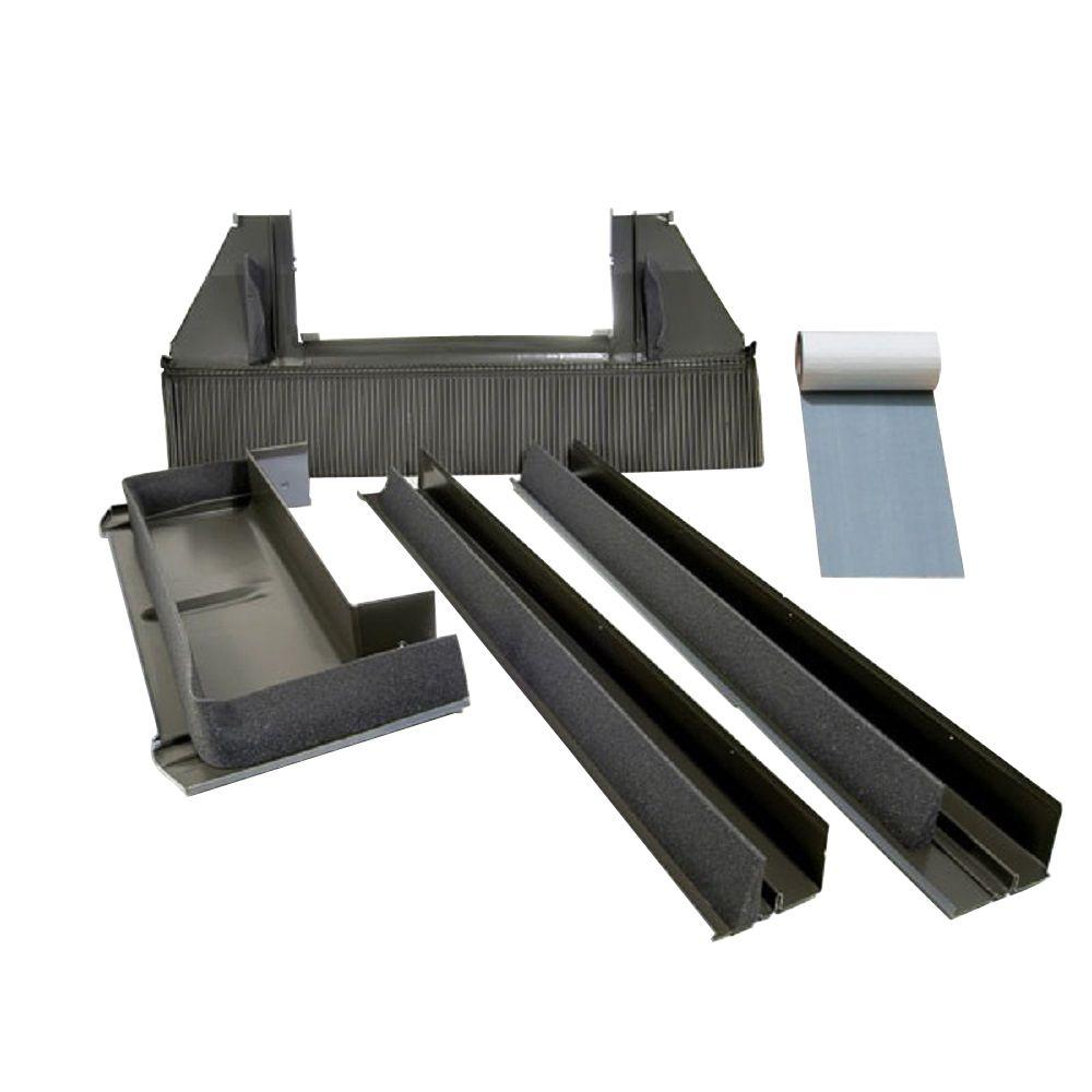 C12 High-Profile Tile Roof Flashing with Adhesive Underlayment for Deck Mount