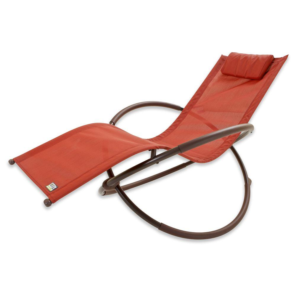 Rst brands orbital sling patio lounger chaise in orange op for Chaise longue orange