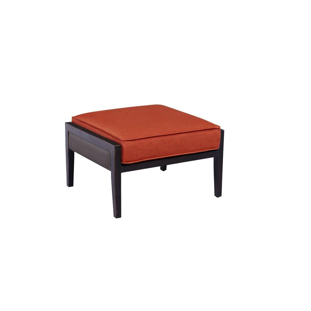 Greystone Patio Ottoman with Cinnabar Cushion -- CUSTOM  sc 1 st  The Home Depot & Outdoor Ottomans - Outdoor Lounge Furniture - The Home Depot