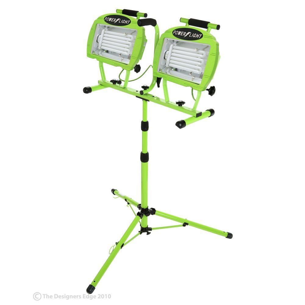 Stand Up Lights: Designers Edge Twin Head 130-Watt Fluorescent Worklight