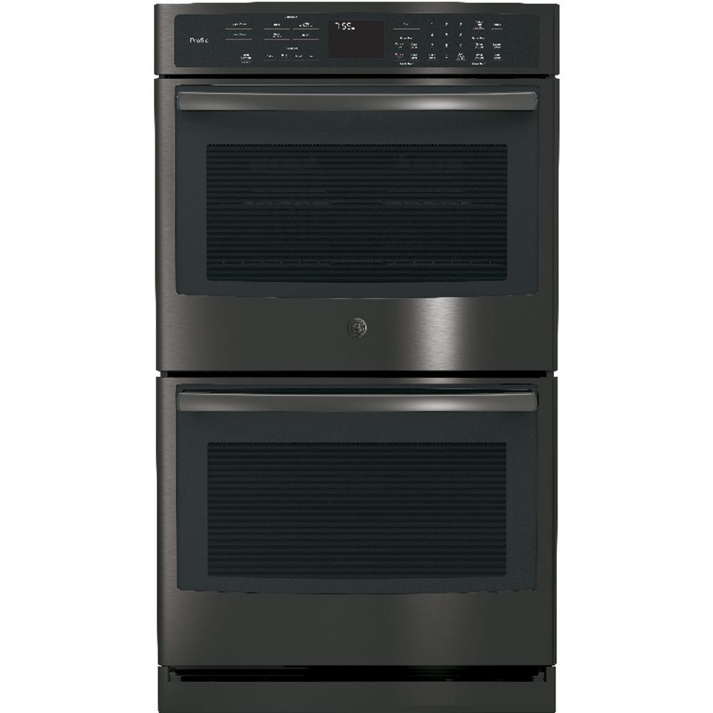 30 in. Double Electric Wall Oven Self-Cleaning with Convection in Black