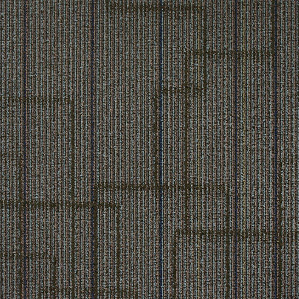 Ellis Watercolor Loop 19.7 in. x 19.7 in. Carpet Tile (20