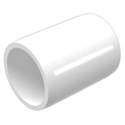 1-1/4 in. Furniture Grade PVC External Coupling in White (10-Pack)