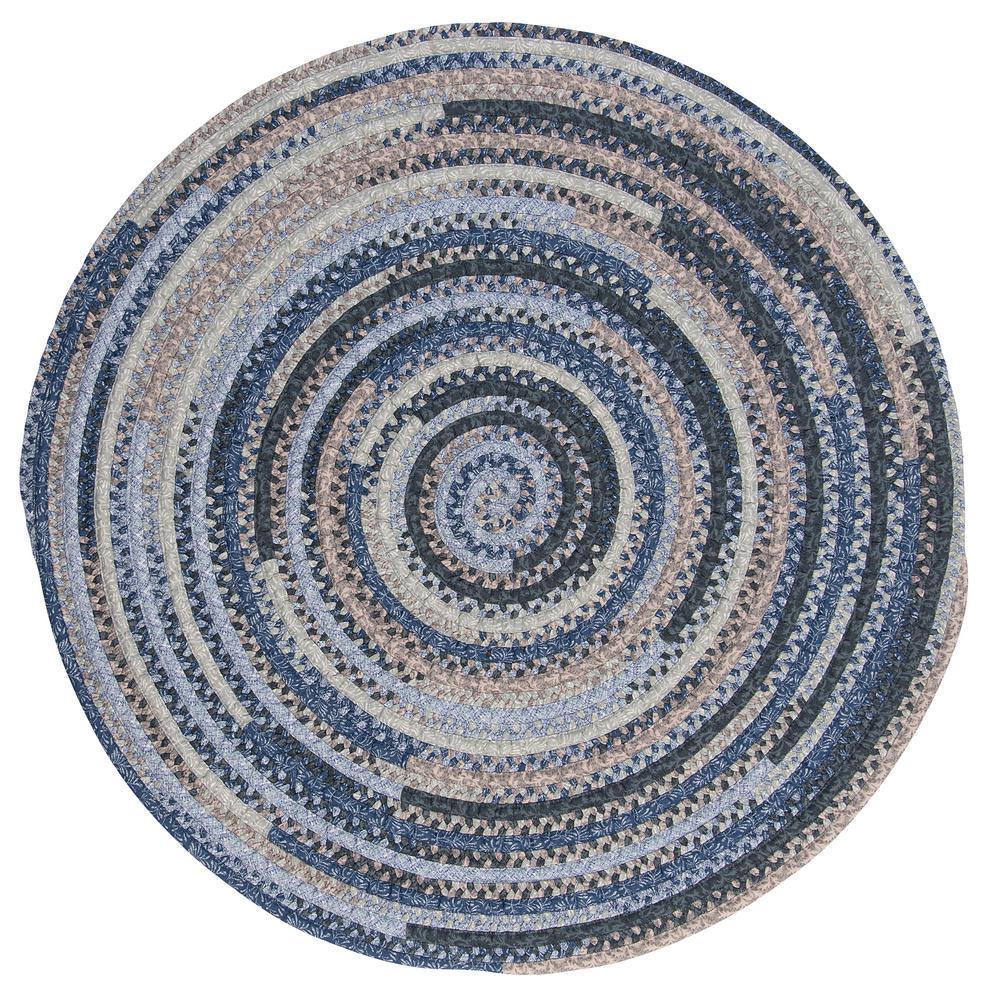 Monica Denim Wash 4 ft. x 4 ft. Round Braided Area Rug