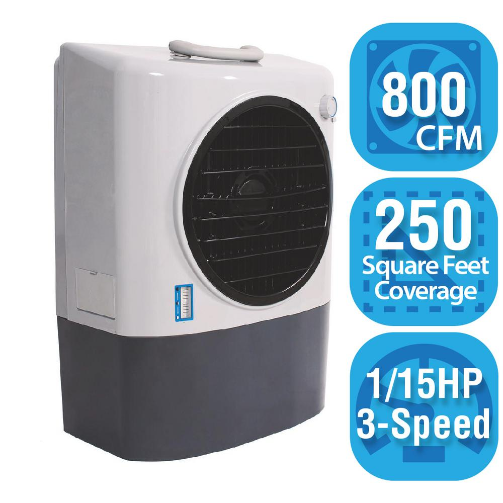 Hessaire 800 CFM 3 Speed Portable Evaporative Cooler For 250 Sq. Ft. MC17M    The Home Depot