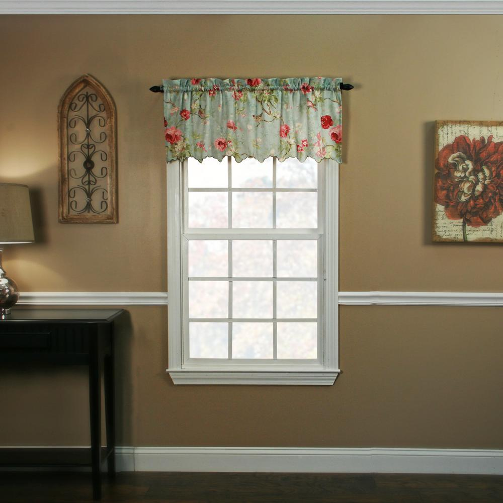 Ellis Curtain Balmoral 15 in. L Polyester Valance in Sage