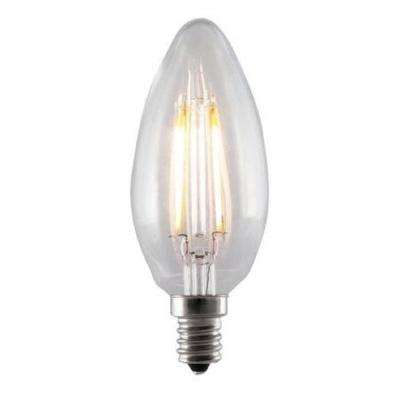 40W Equivalent Soft White B10 Dimmable LED Vintage Style Light Bulb